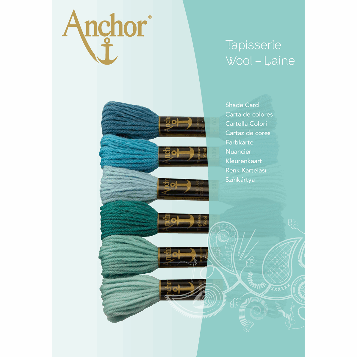 Picture of Anchor Tapisserie Wool: Shade Card