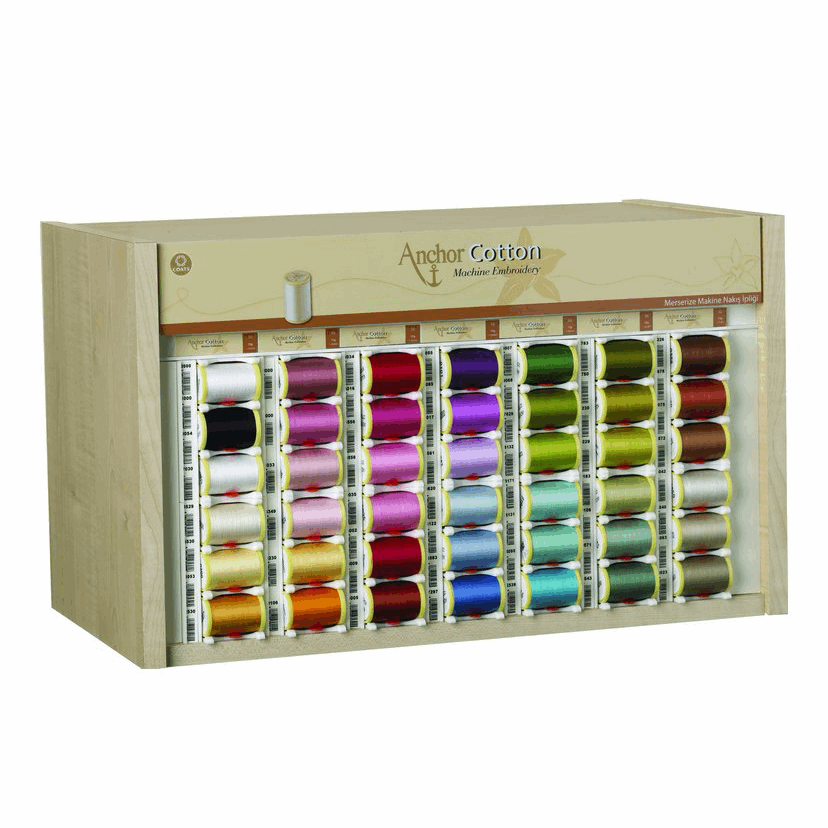 Picture of Polka: Anchor Cotton Thread Counter or Top Box Cabinet: 3 Fill: Maple