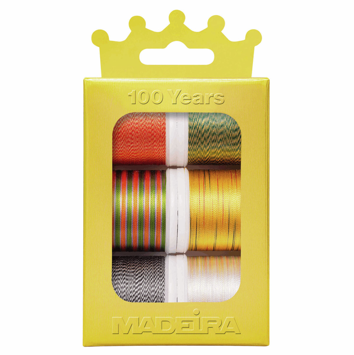 Picture of Crown-Box: Rayon 40: 6 x 200m Spools: Assorted Variegated Colours