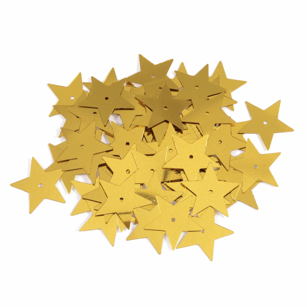 Picture of Sequins: Stars: Large: Gold: 5 Packs of 30