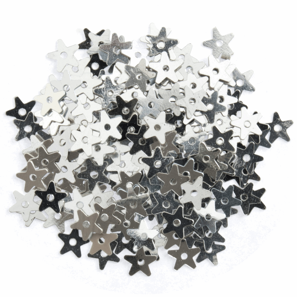 Picture of Sequins: Stars: Small: Silver: 5 Packs of 250