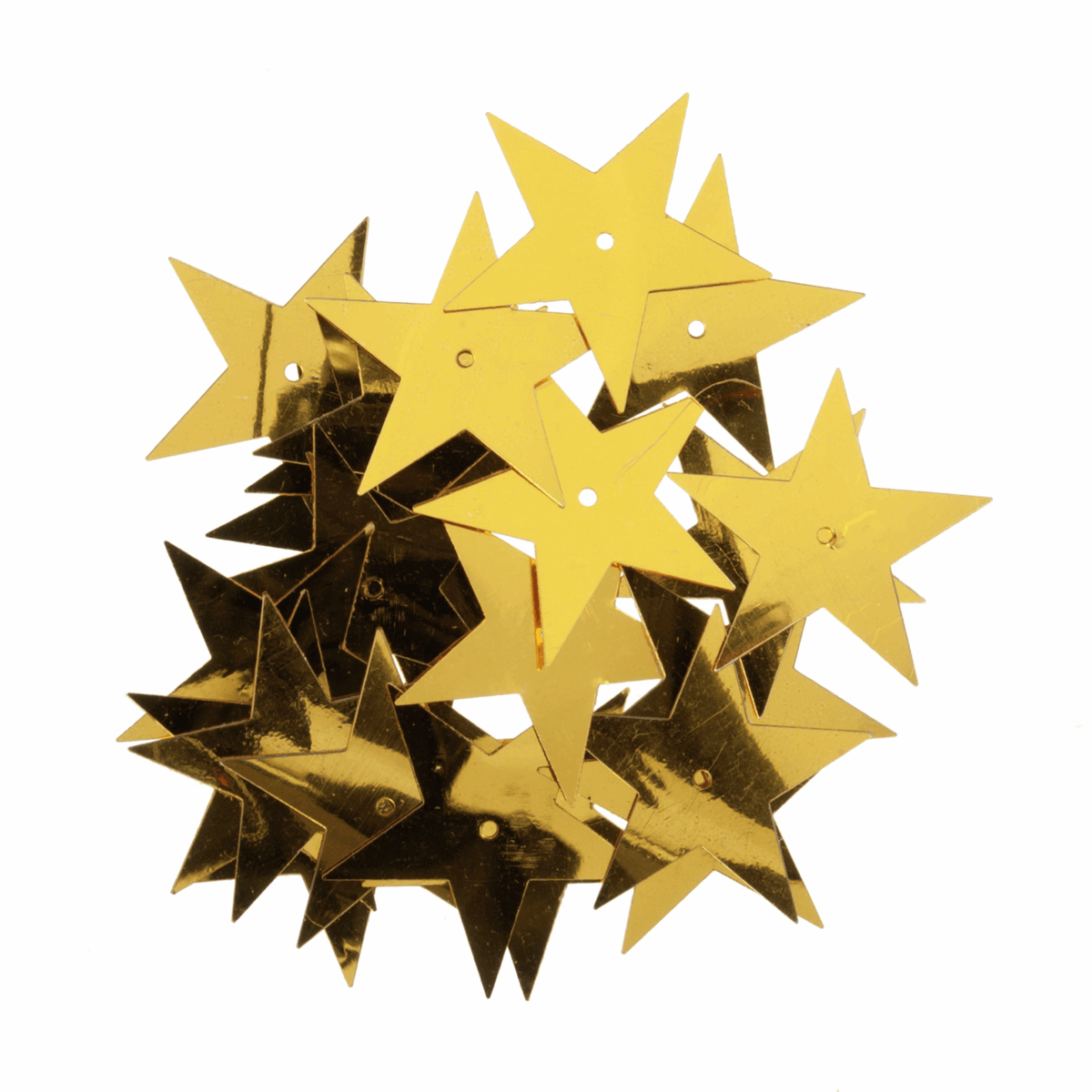 Picture of Sequins: Stars: Extra Large: Gold: 5 Packs of 23