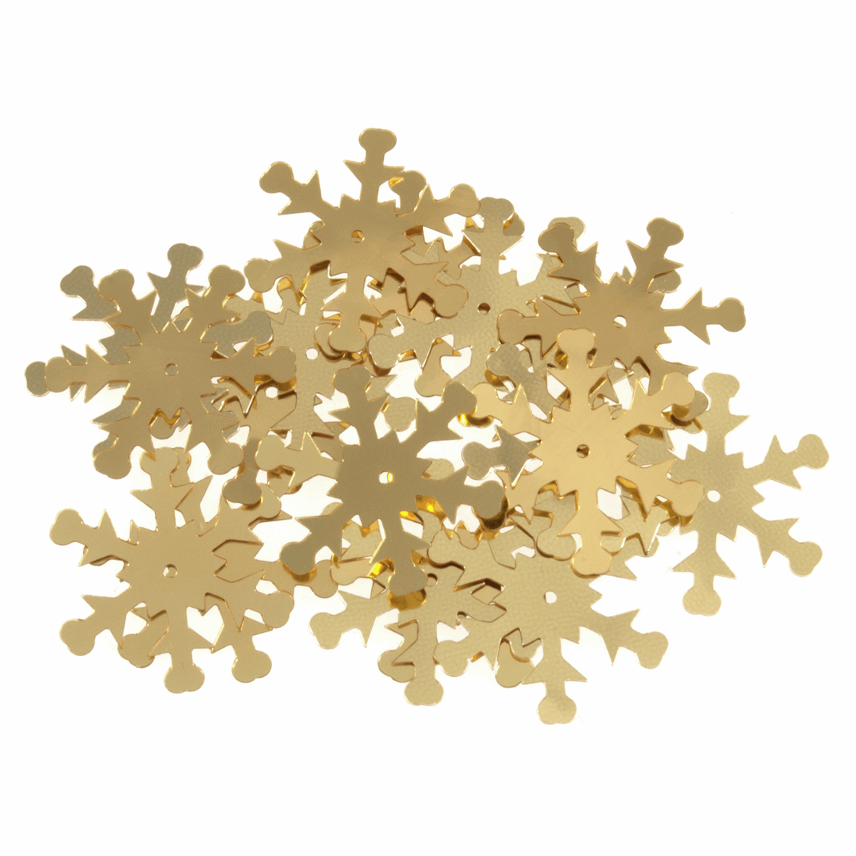 Picture of Sequins: Snowflake: Gold: 5 x Packs of 18