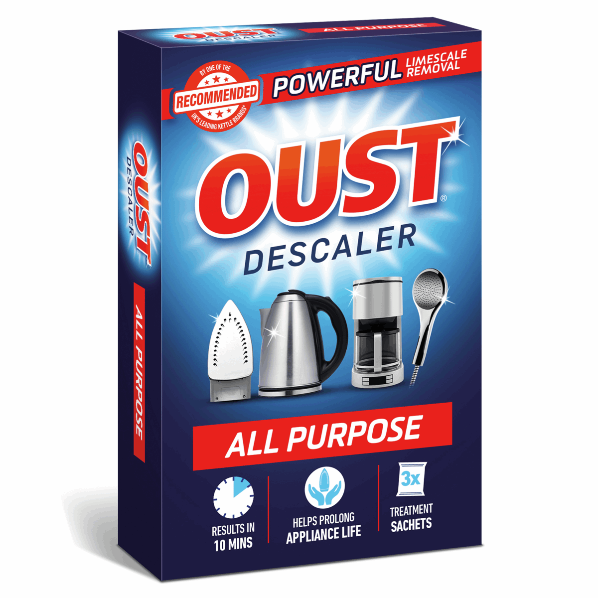 Picture of Oust: All Purpose Descaler: 6 Boxes of 3 Sachets