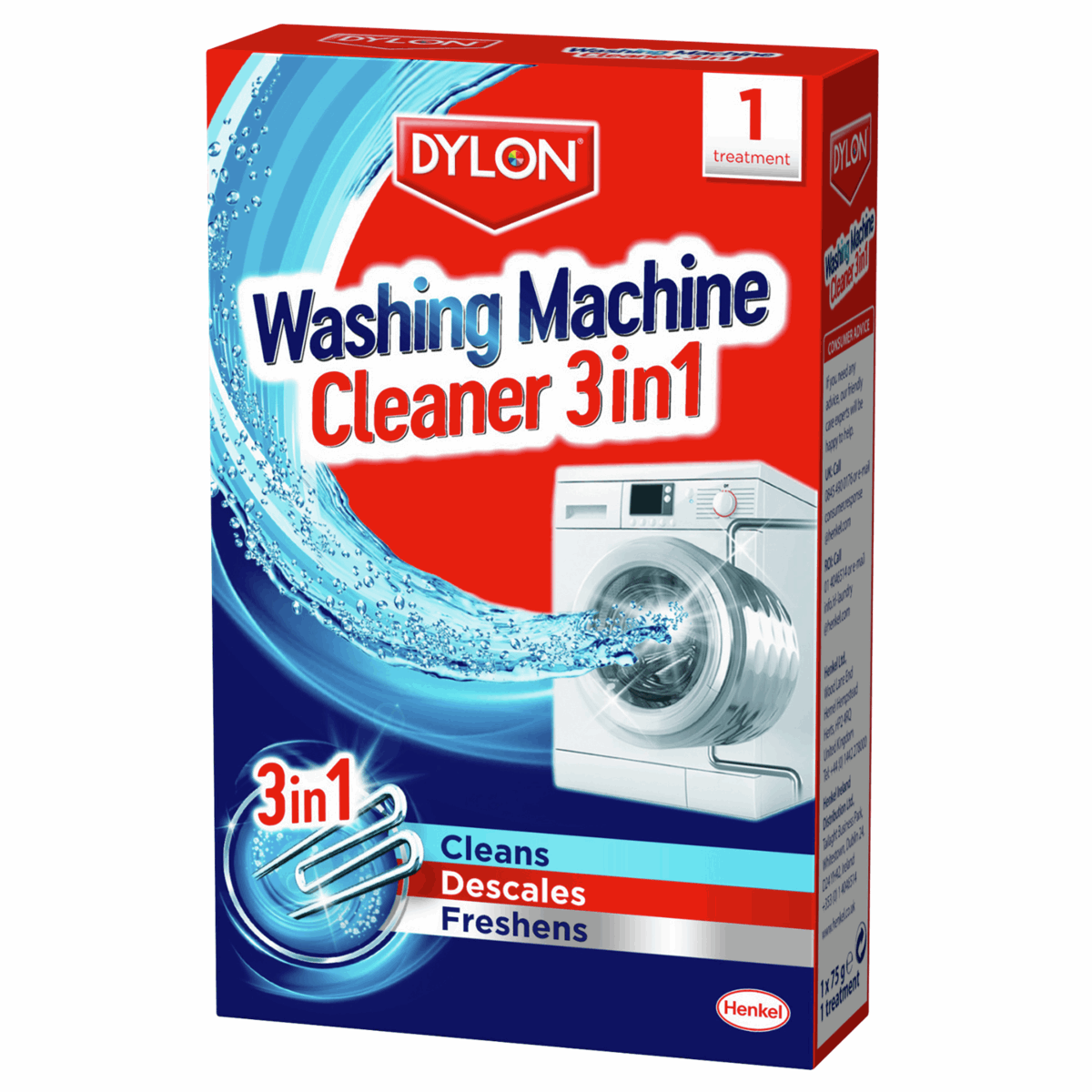 Picture of Dylon Washing Machine Cleaner: 6 Packs x 1 Treatment