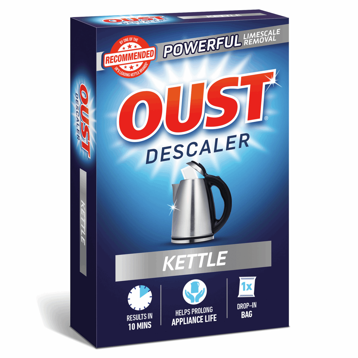 Picture of Oust: Kettle Descaler: 6 Boxes of 1 x 75ml Drop-in Bag
