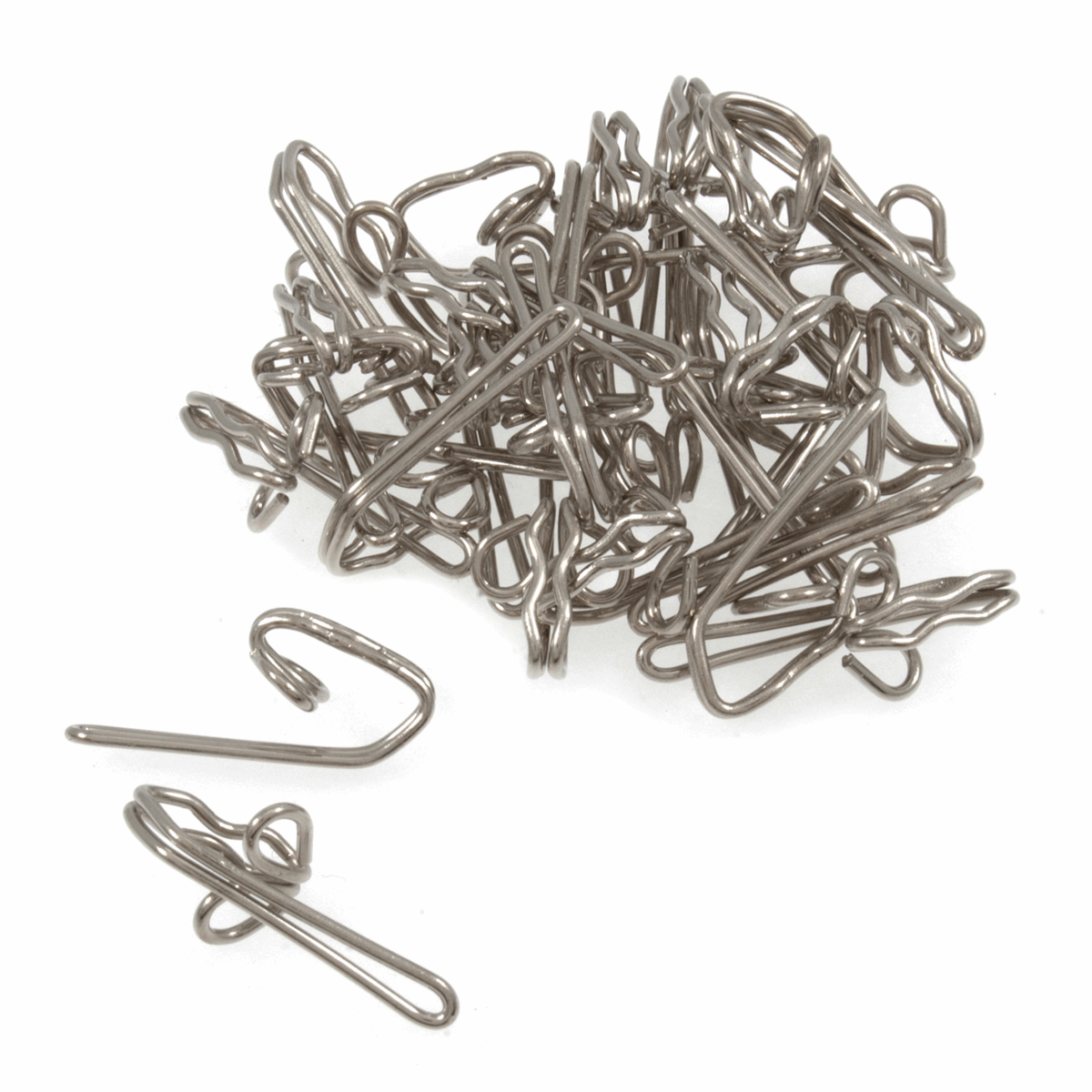 Picture of Steel Curtain Hooks: Pack of 30: Silver