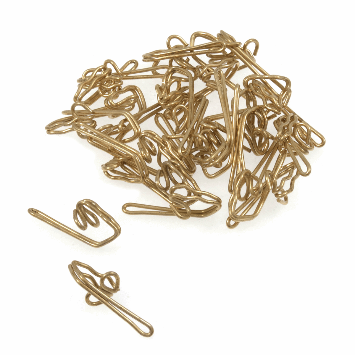 Picture of Steel Curtain Hooks: Pack of 30: Gold