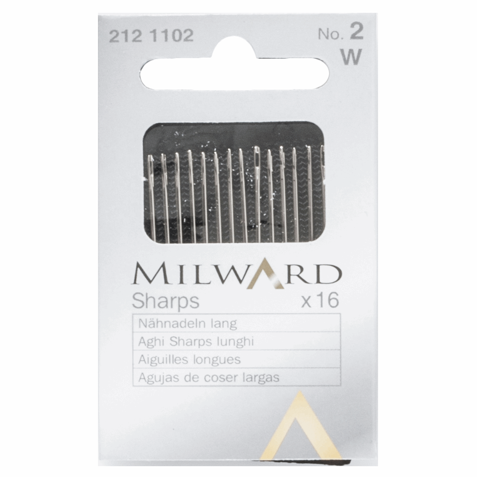 Picture of Hand Sewing Needles: Sharps: No.2: 16 Pieces