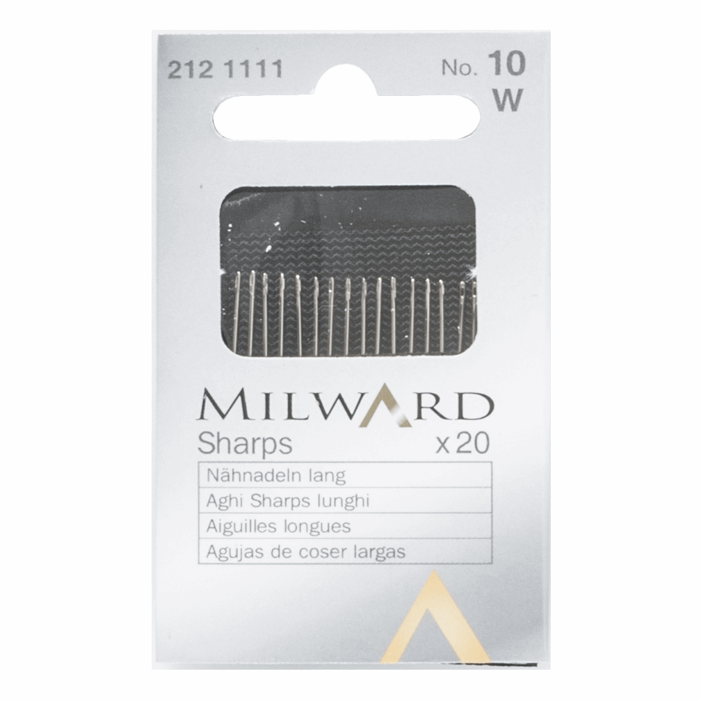 Picture of Hand Sewing Needles: Sharps: No.10: 20 Pieces