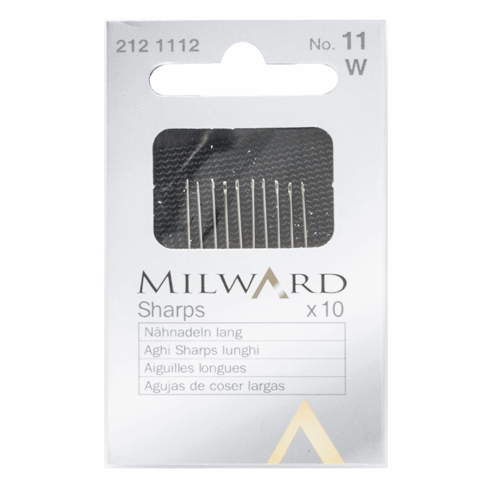 Picture of Hand Sewing Needles: Sharps: No.11: 10 Pieces