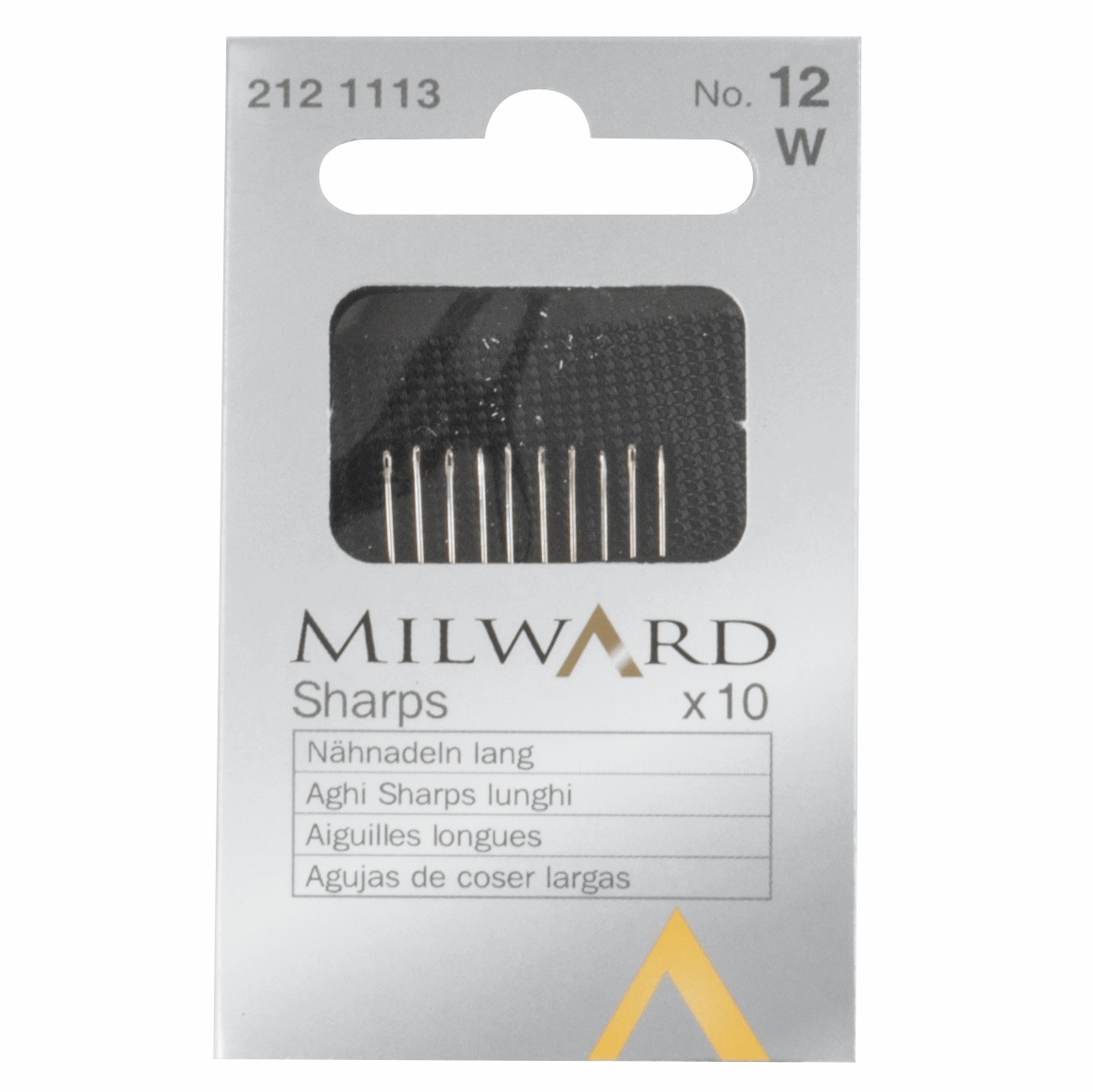 Picture of Hand Sewing Needles: Sharps: No.12: 10 Pieces