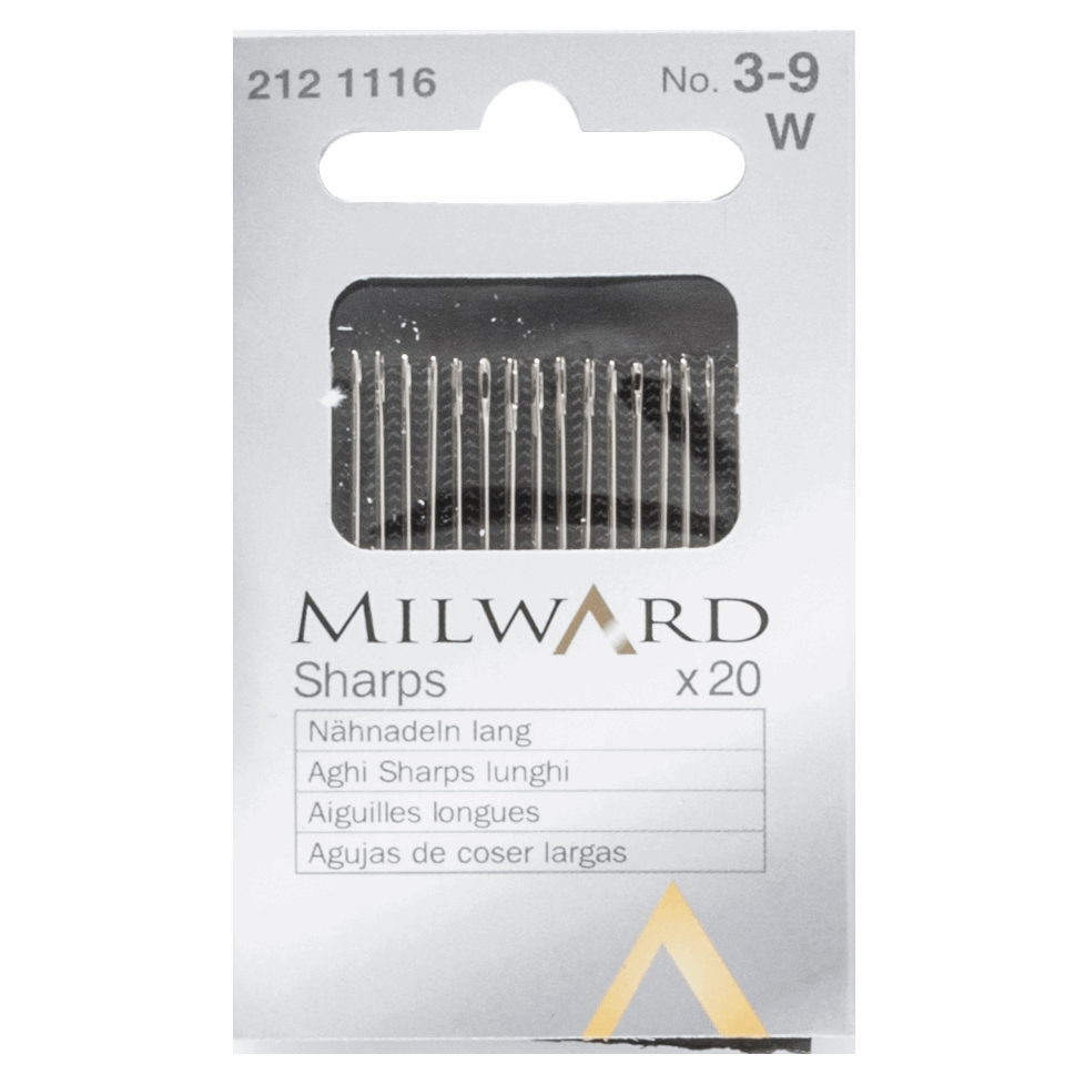 Picture of Hand Sewing Needles: Sharps: Nos.3-9: 20 Pieces