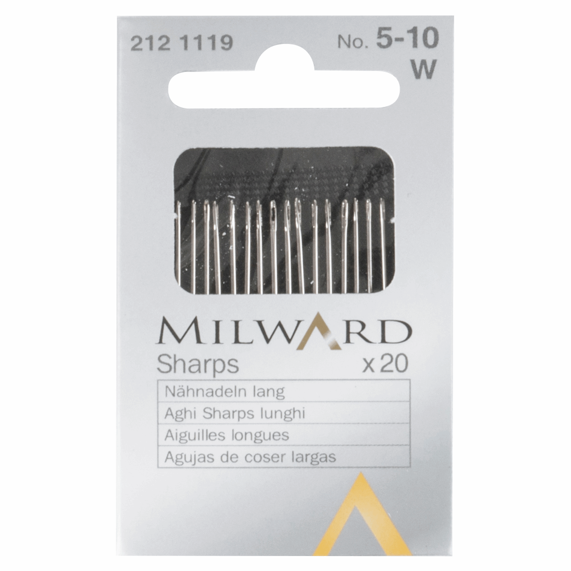 Picture of Hand Sewing Needles: Sharps: Nos.5-10: 20 Pieces