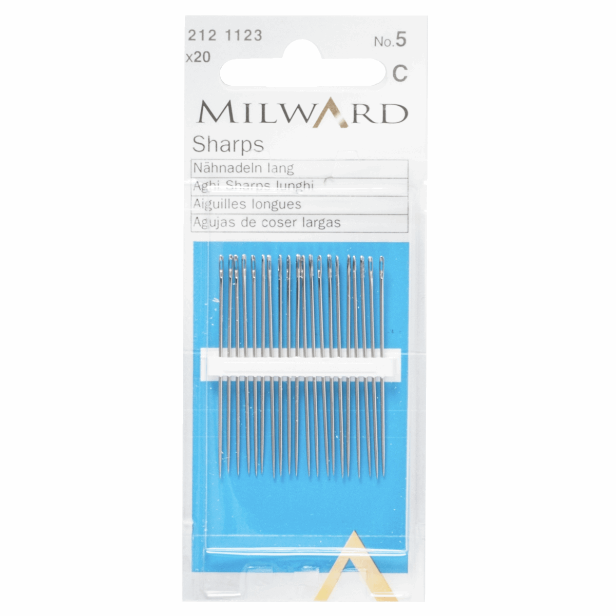 Picture of Hand Sewing Needles: Sharps: No.5: 20 Pieces