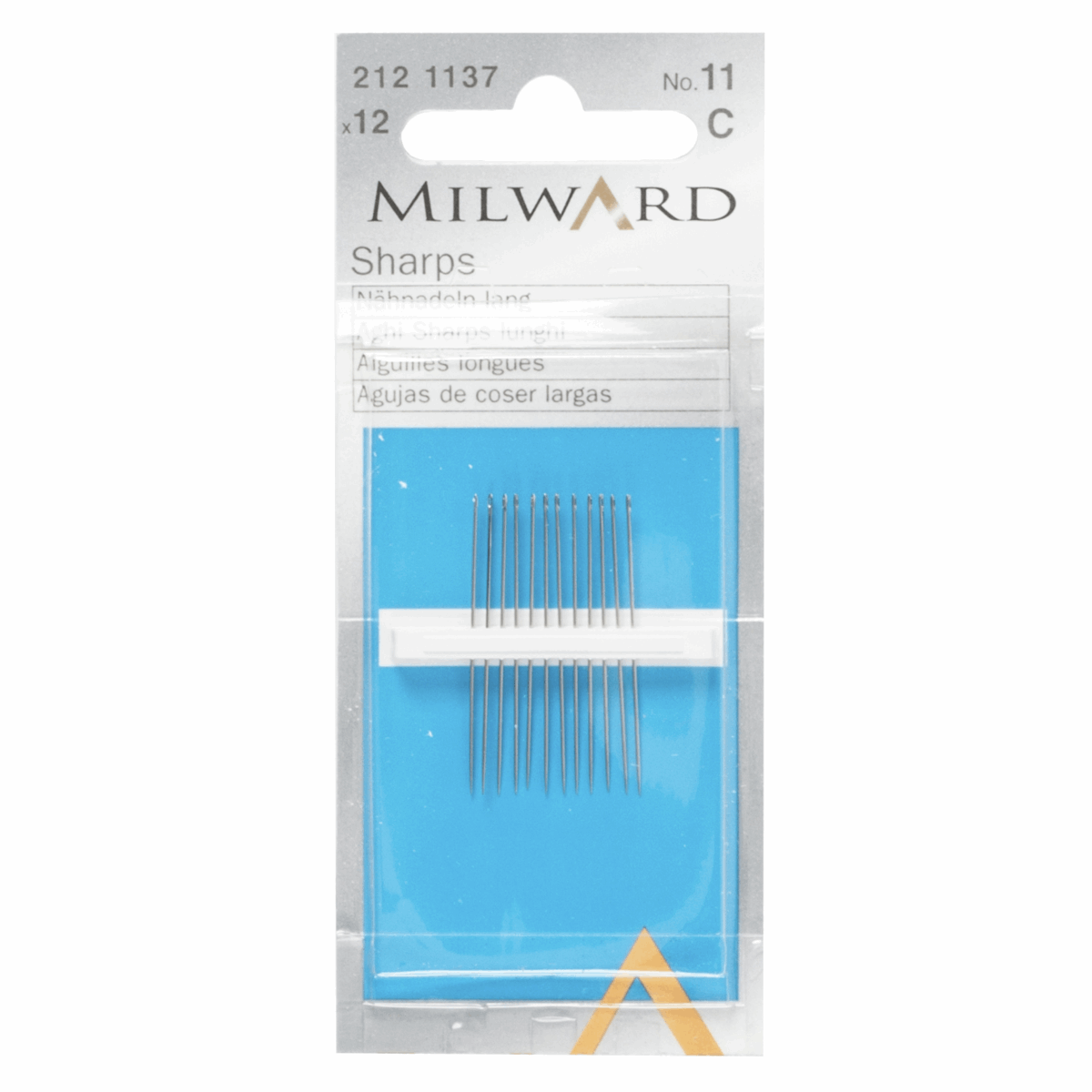 Picture of Hand Sewing Needles: Sharps: No.11: 12 Pieces