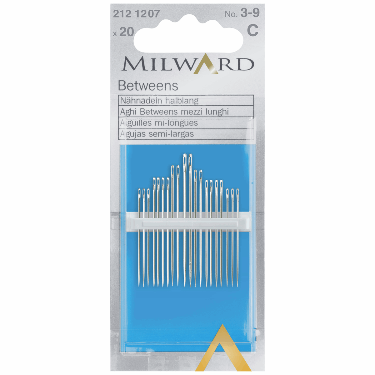 Picture of Hand Sewing Needles: Betweens/Quilting: Nos.3-9: 20 Pieces