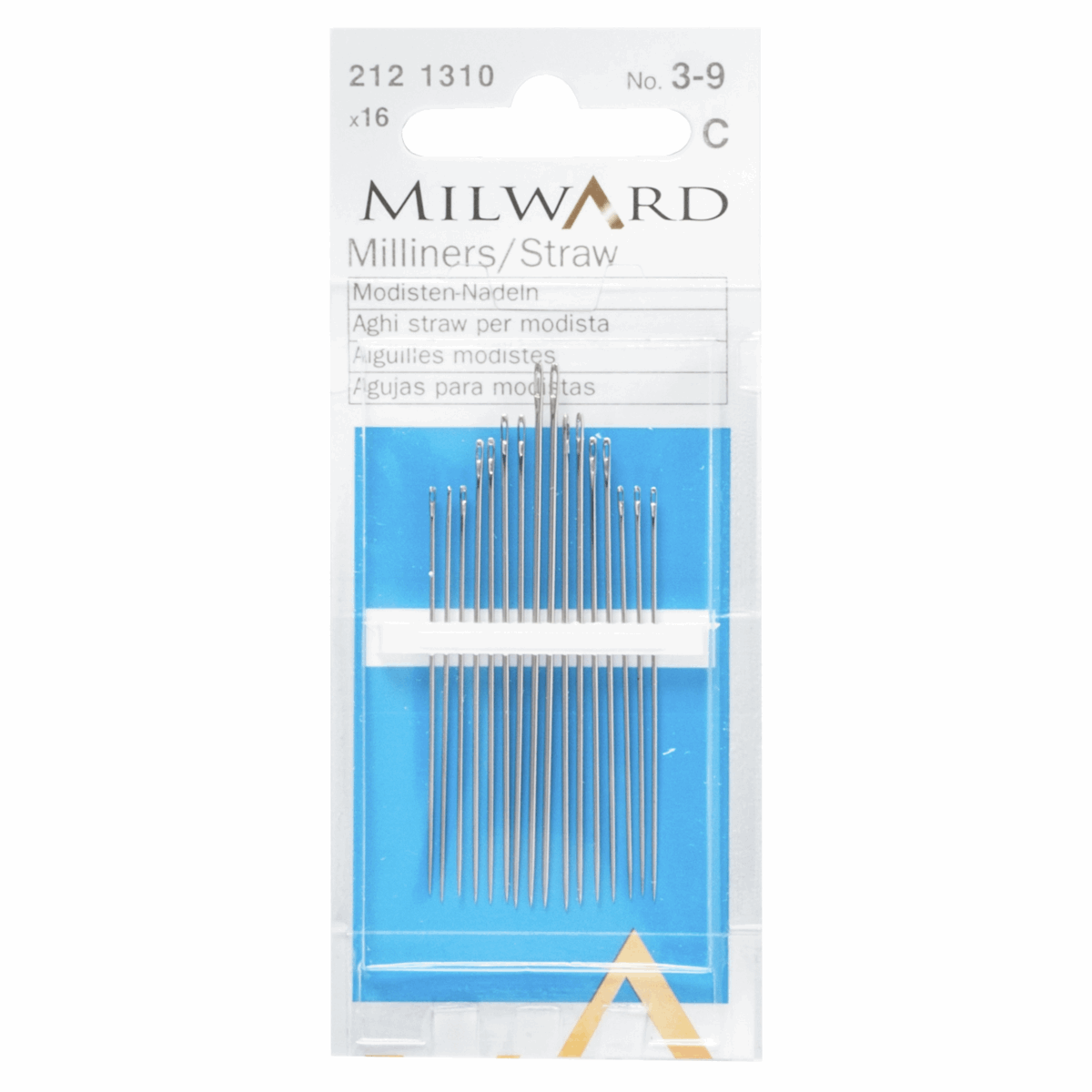 Picture of Hand Sewing Needles: Straw/Milliners: Nos.3-9: 16 Pieces