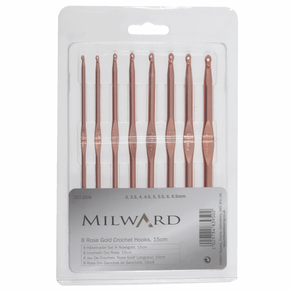Picture of Crochet Hook Set: Rose Gold: Set of 8