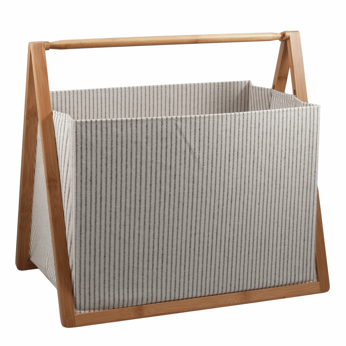 Picture of Folding Craft Storage Basket: 46.5 x 31 x 43cm: White