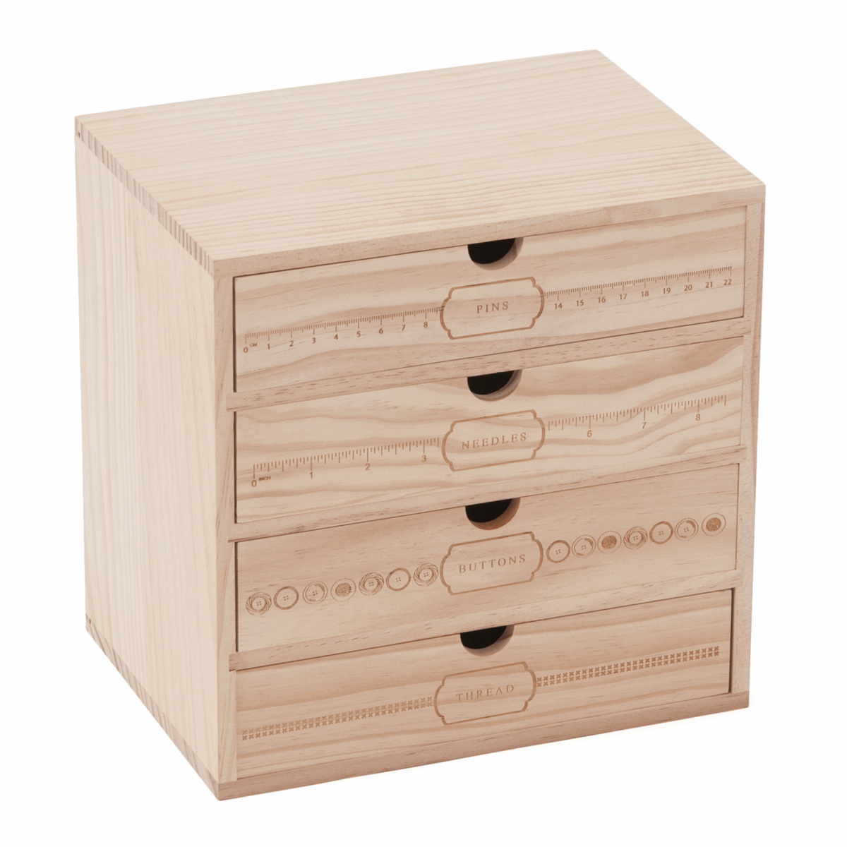Picture of Wooden Storage Box: 4 Drawer