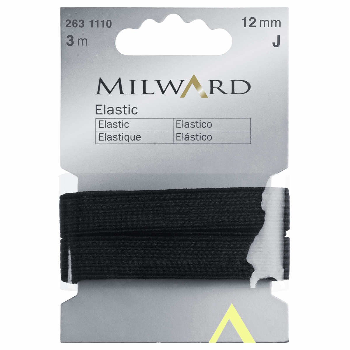 Picture of Elastic: 3m x 12mm: Black