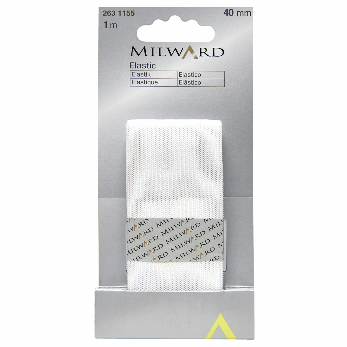 Picture of Elastic: 1m x 40mm: White