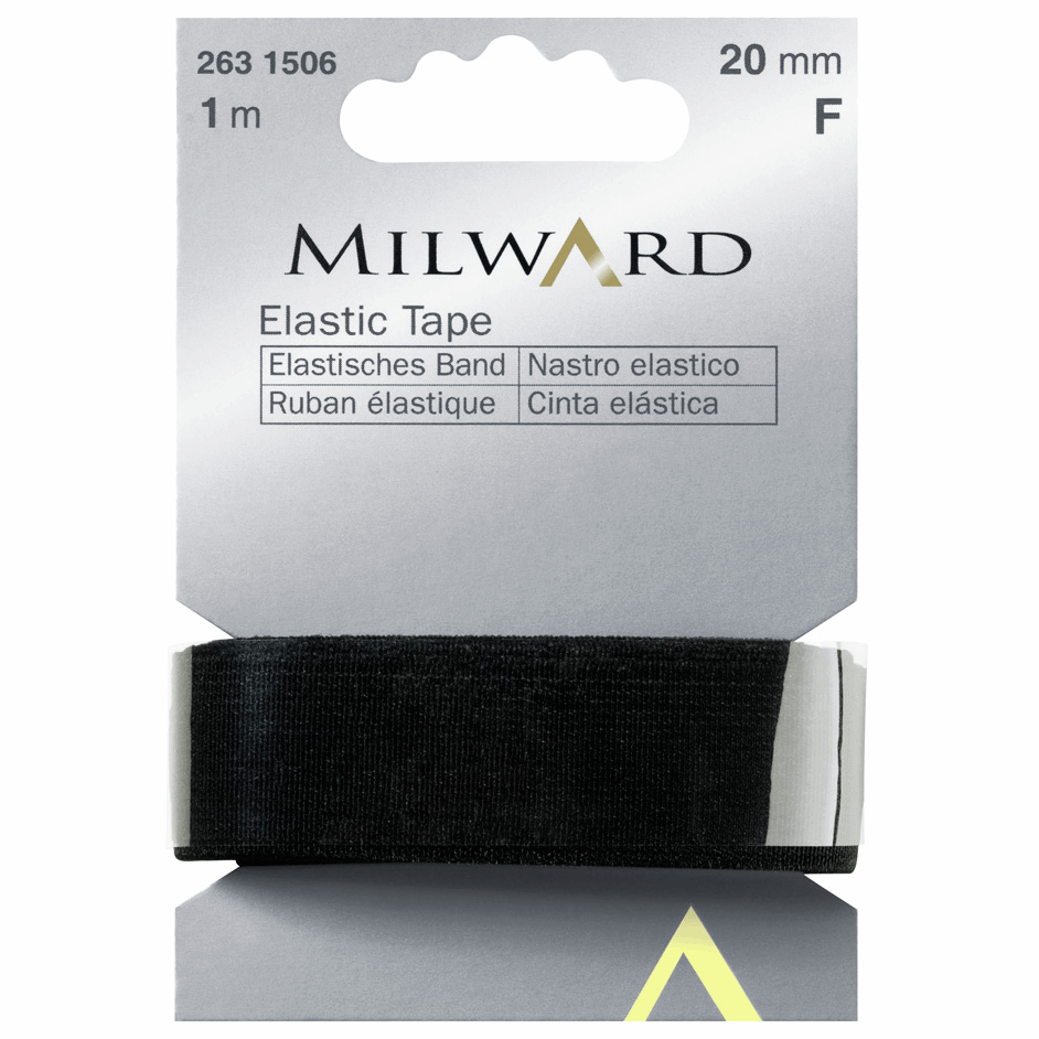 Picture of Elastic Tape: 1m x 20mm: Black