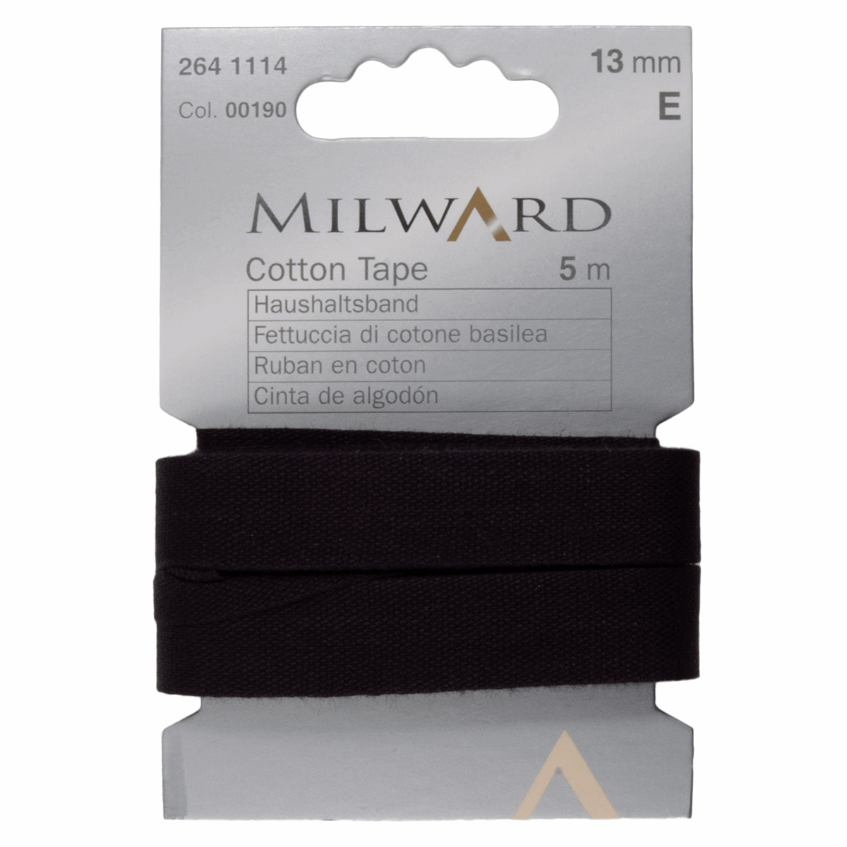 Picture of Cotton Tape: 5m x 13mm: Black
