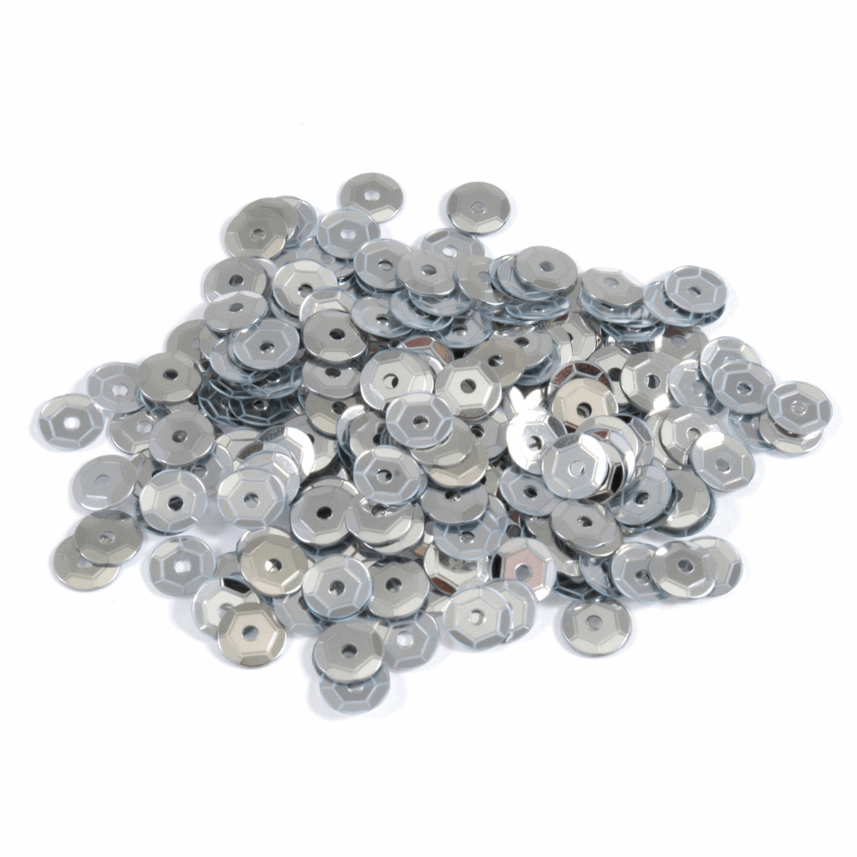 Picture of Sequins: Cup: 5mm: Silver: 5 Packs of 500