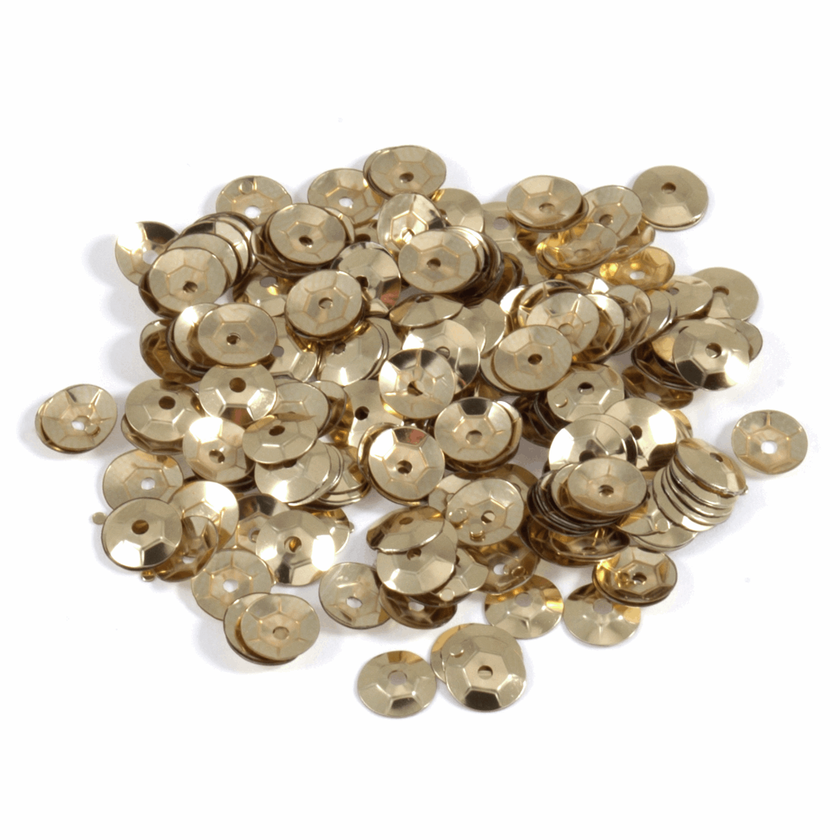 Picture of Sequins: Cup: 5mm: Gold: 5 Packs of 500