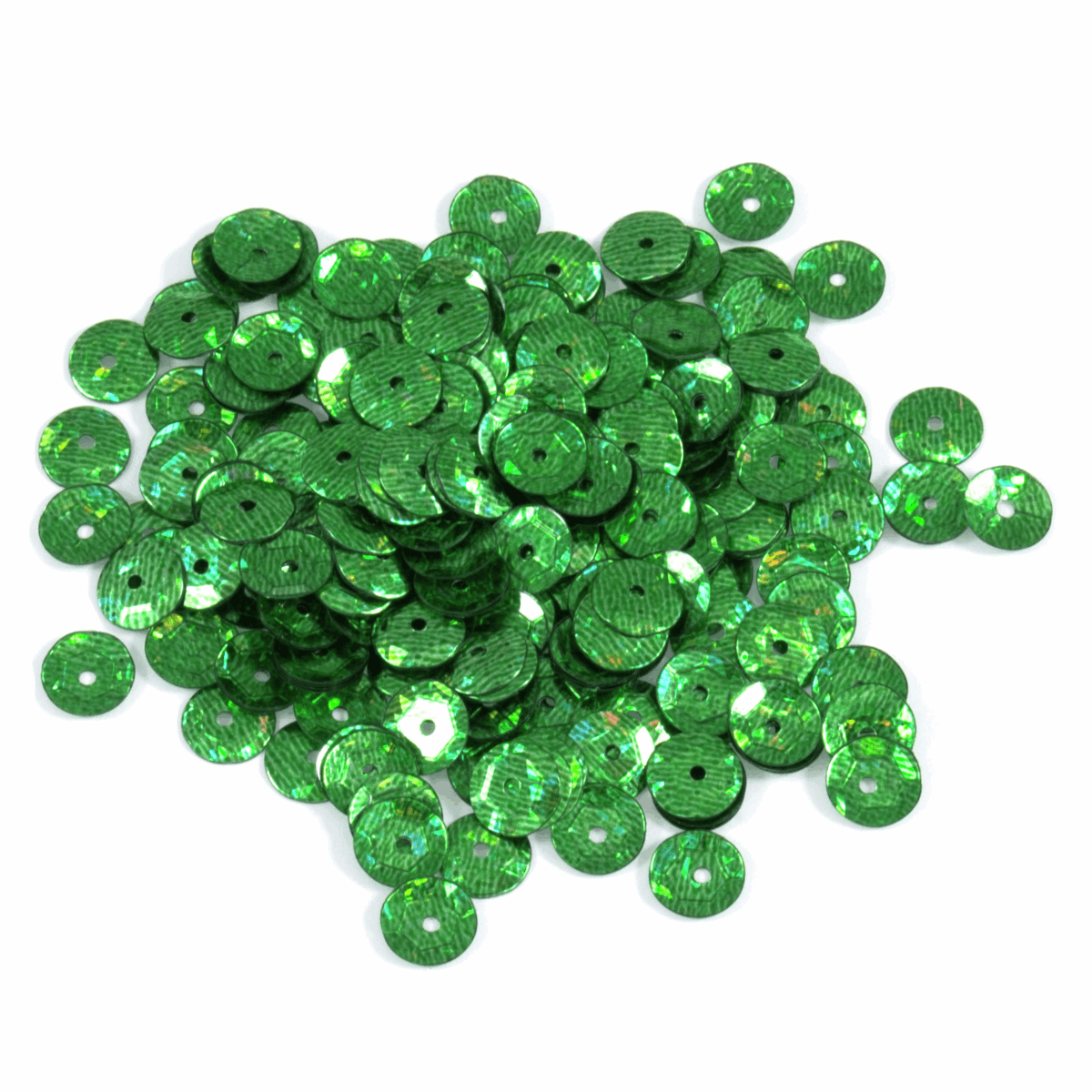 Picture of Sequins: Cup: 5mm: Green: 5 Packs of 500