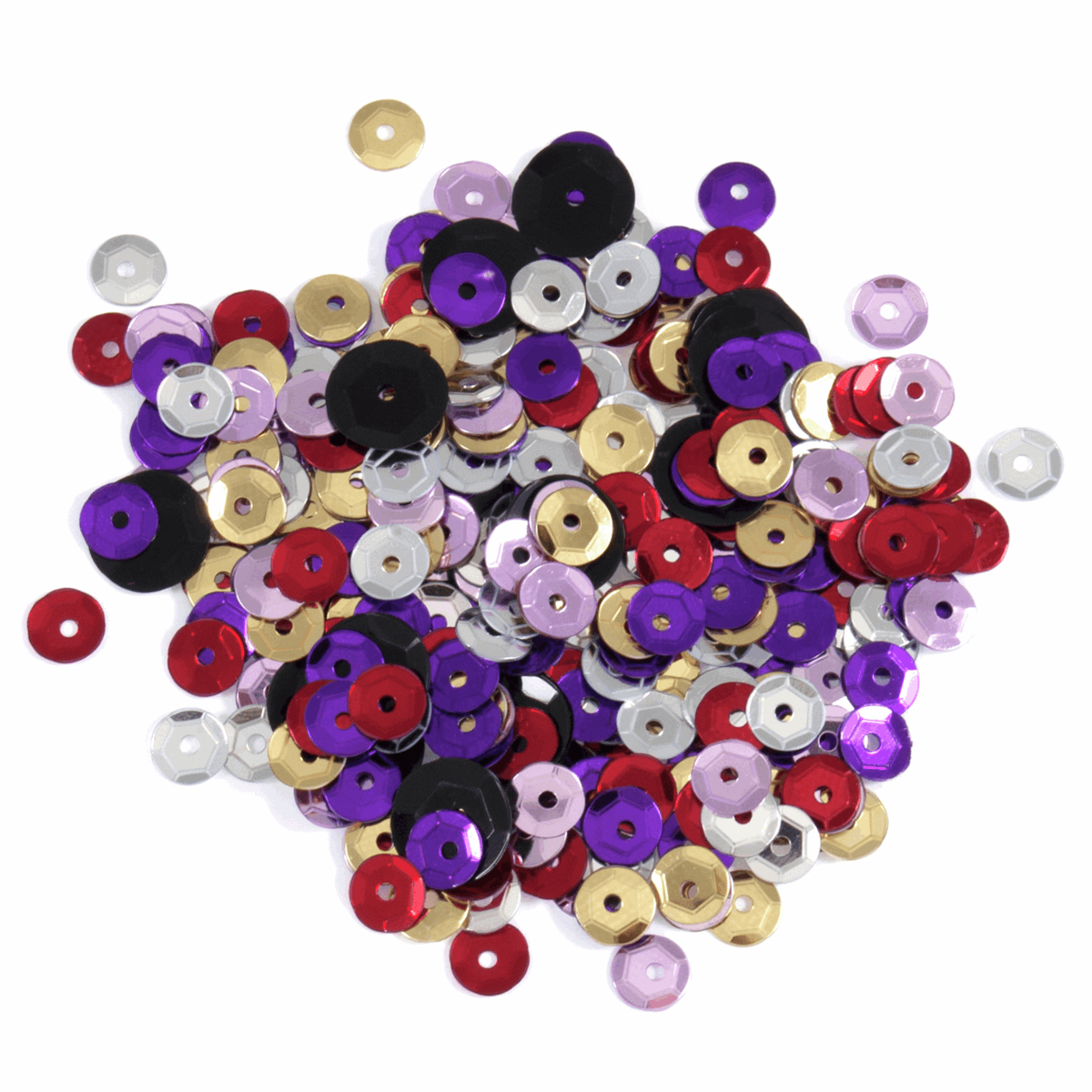 Picture of Sequins: Cup: 5mm: Multicoloured: 5 Packs of 500
