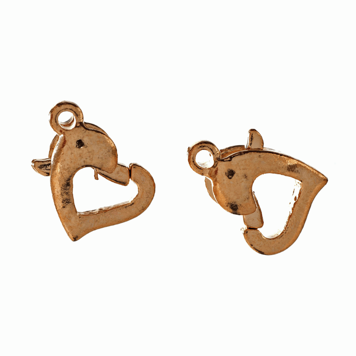 Picture of Trigger Clasp: Heart: Gilt: 5 Packs of 2