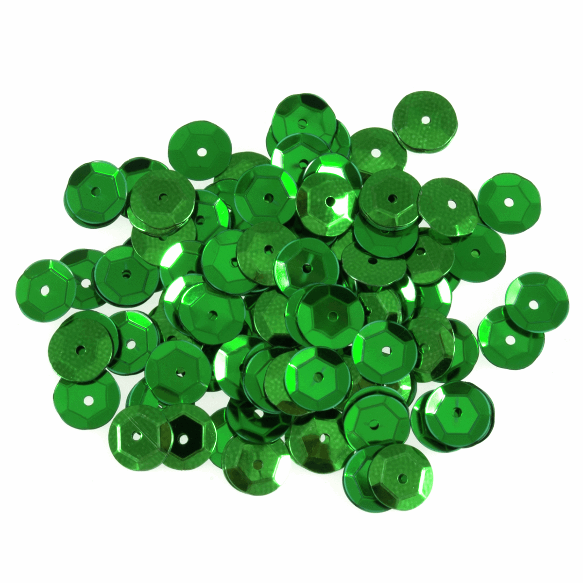Picture of Sequins: Cup: 8mm: Green: 5 Packs of 160