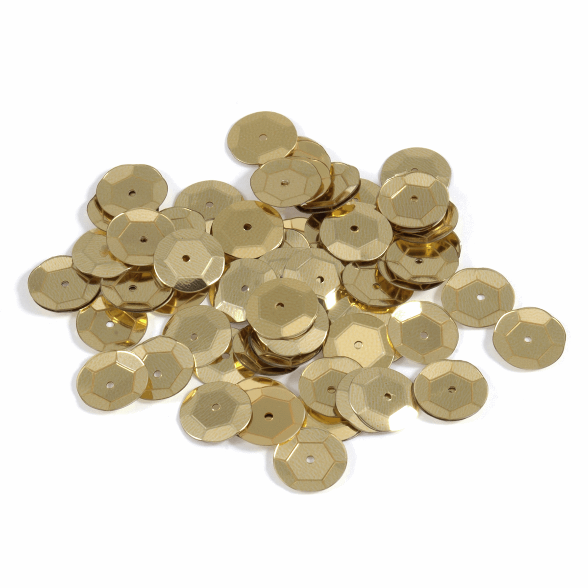 Picture of Sequins: Cup: 10mm: Gold: 5 Packs of 120