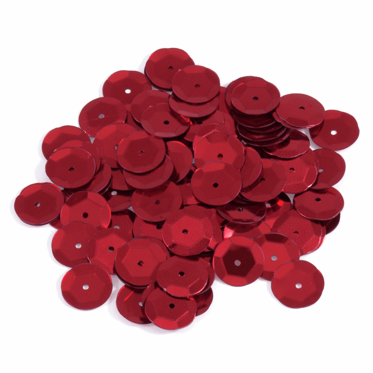 Picture of Sequins: Cup: 10mm: Red: 5 Packs of 120