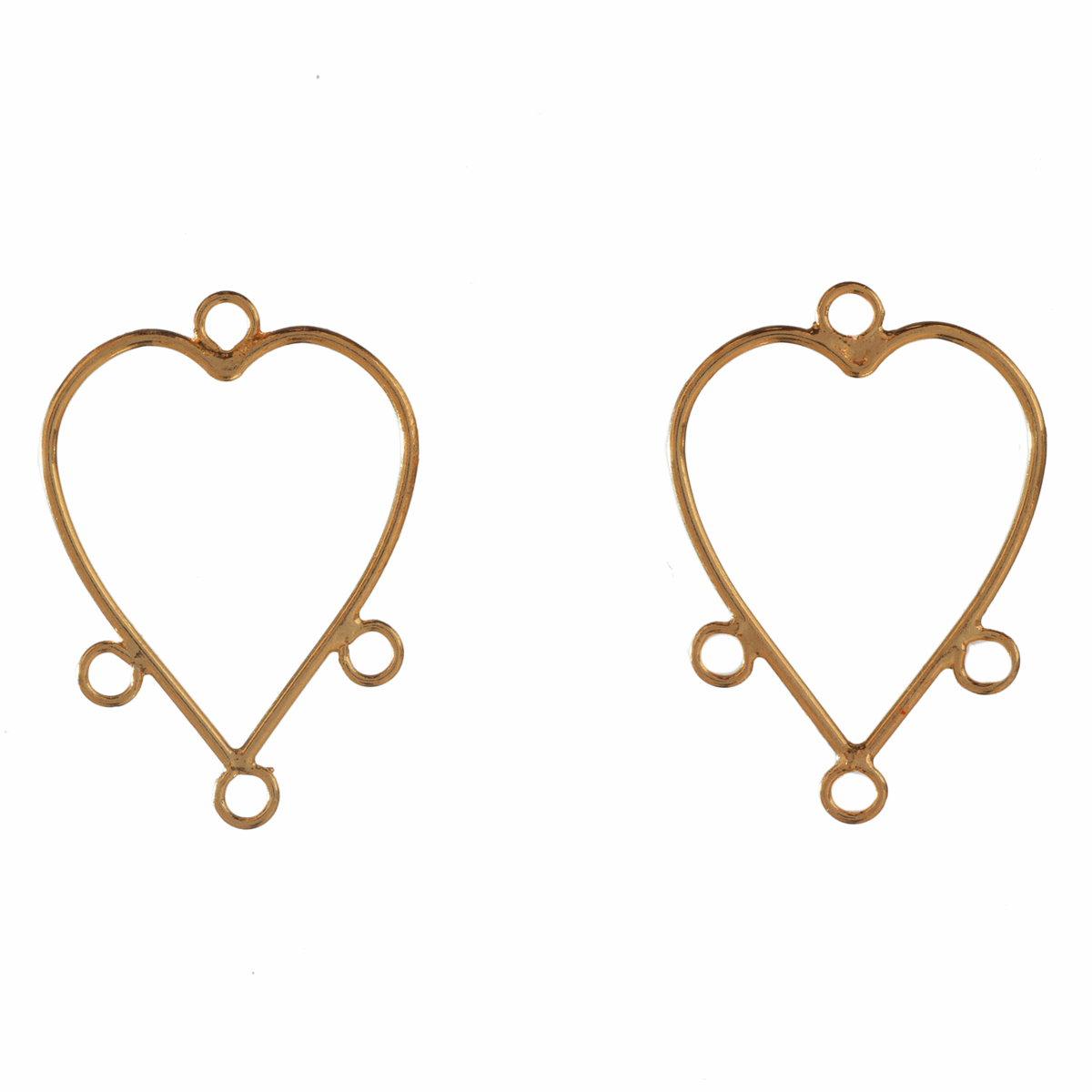 Picture of Heart Earrings with Loops: Gilt: 5 Packs of 2
