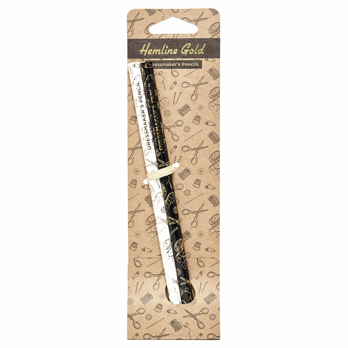 Picture of Pencils: Dressmakers: Water Soluble: Grey and White: 2 Pieces
