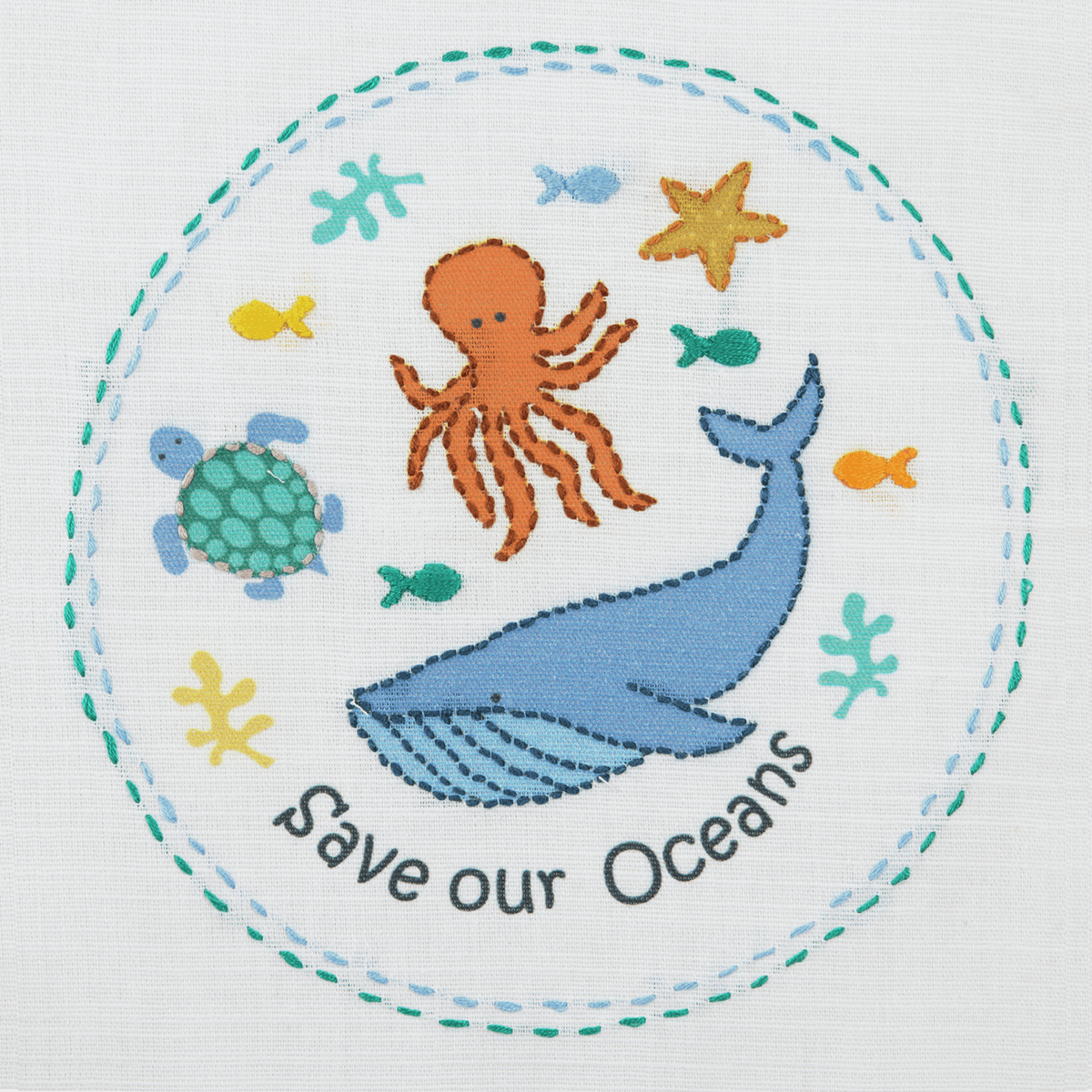 Picture of Embroidery Kit: 1st Kit: Save Our Seas