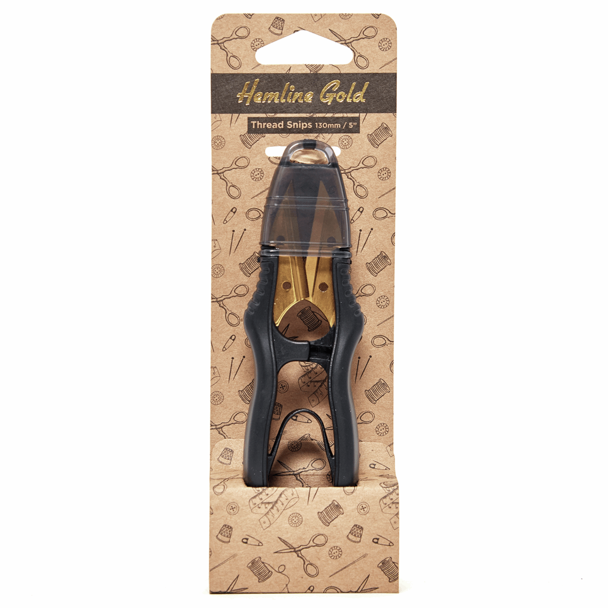 Picture of Thread Snips: Brushed Gold Blade: 12.7cm/5in