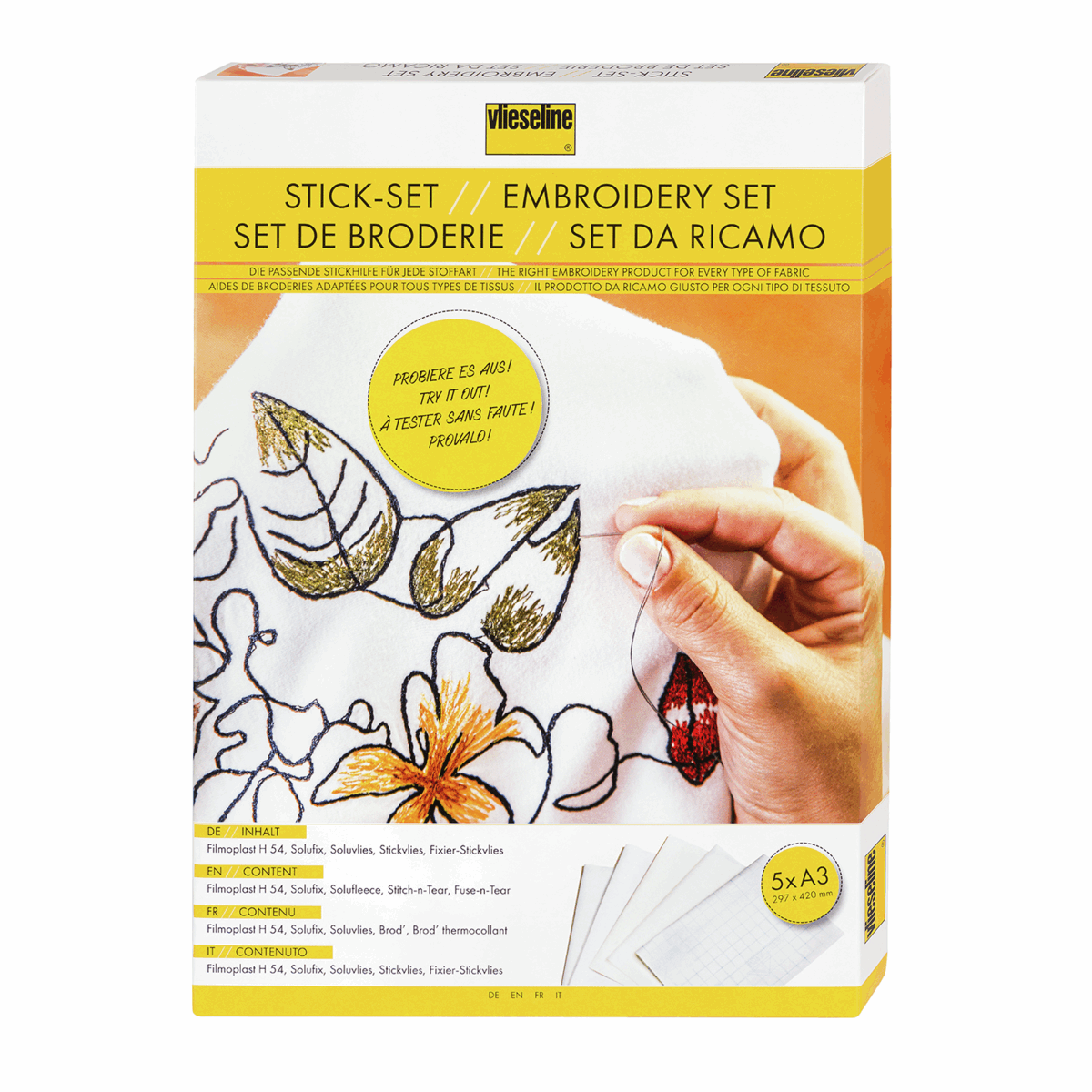 Picture of Embroidery Set: 5 x A3 sheets