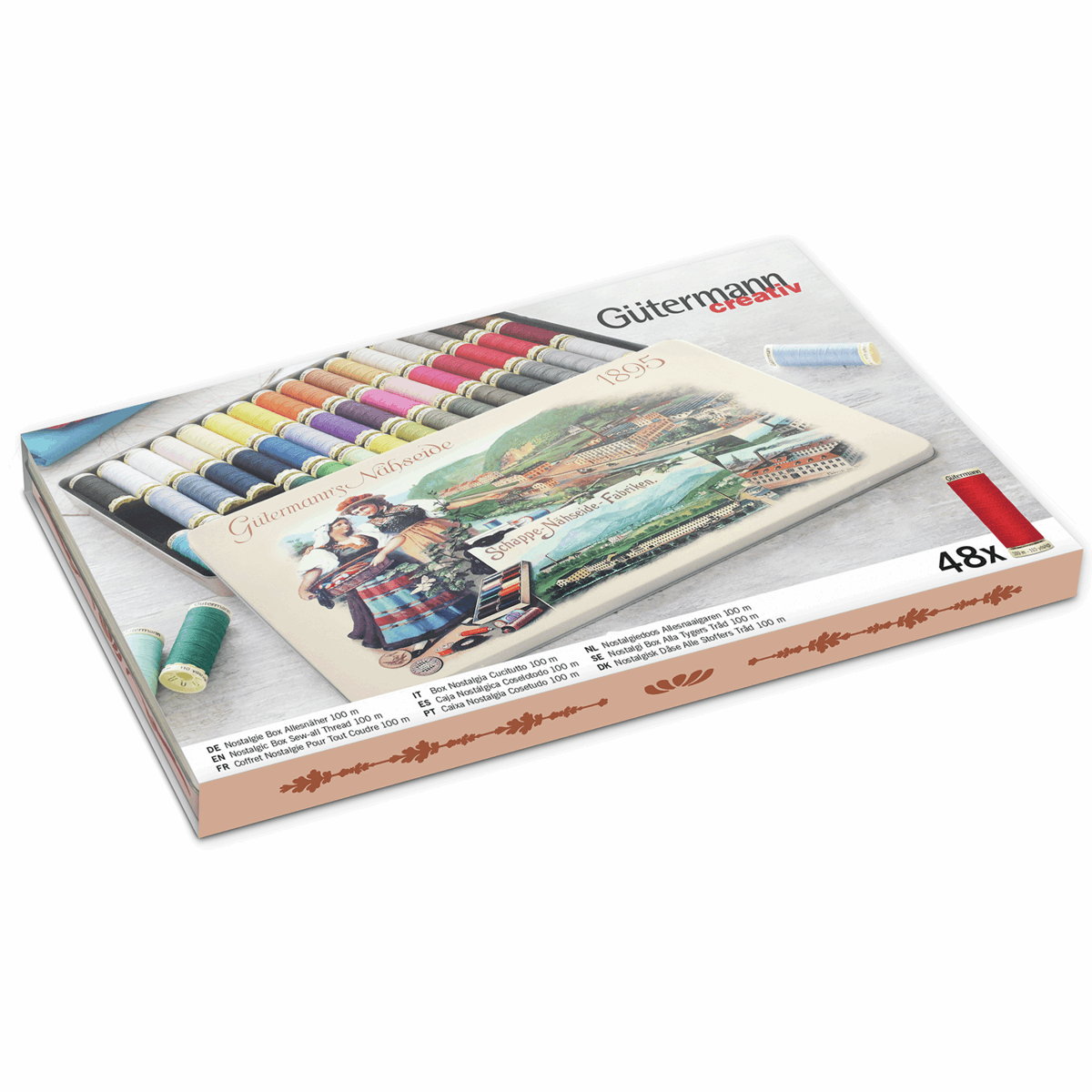 Picture of Nostalgic Box '1895': Sew-All: 48 x 100m: Assorted Shades