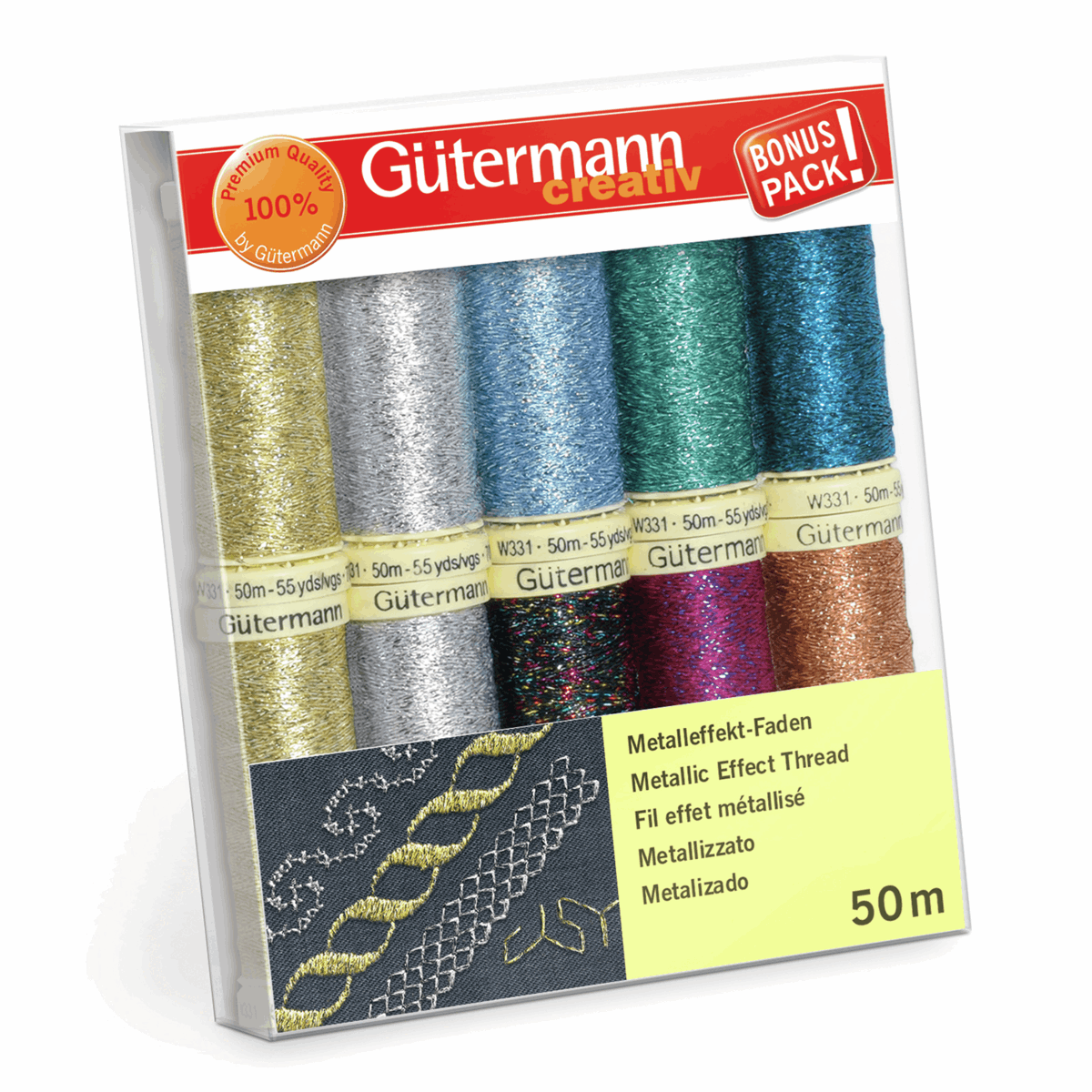 Picture of Thread Set: Metallic Effect: 10 x 50m: Assorted