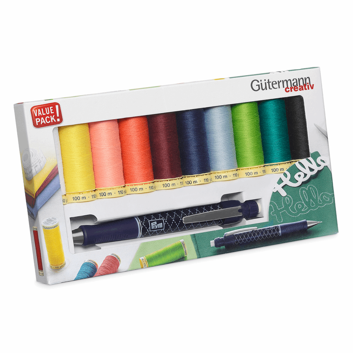 Picture of Thread Set: Sew-All: 10 x 100m: with Cartridge Pencil