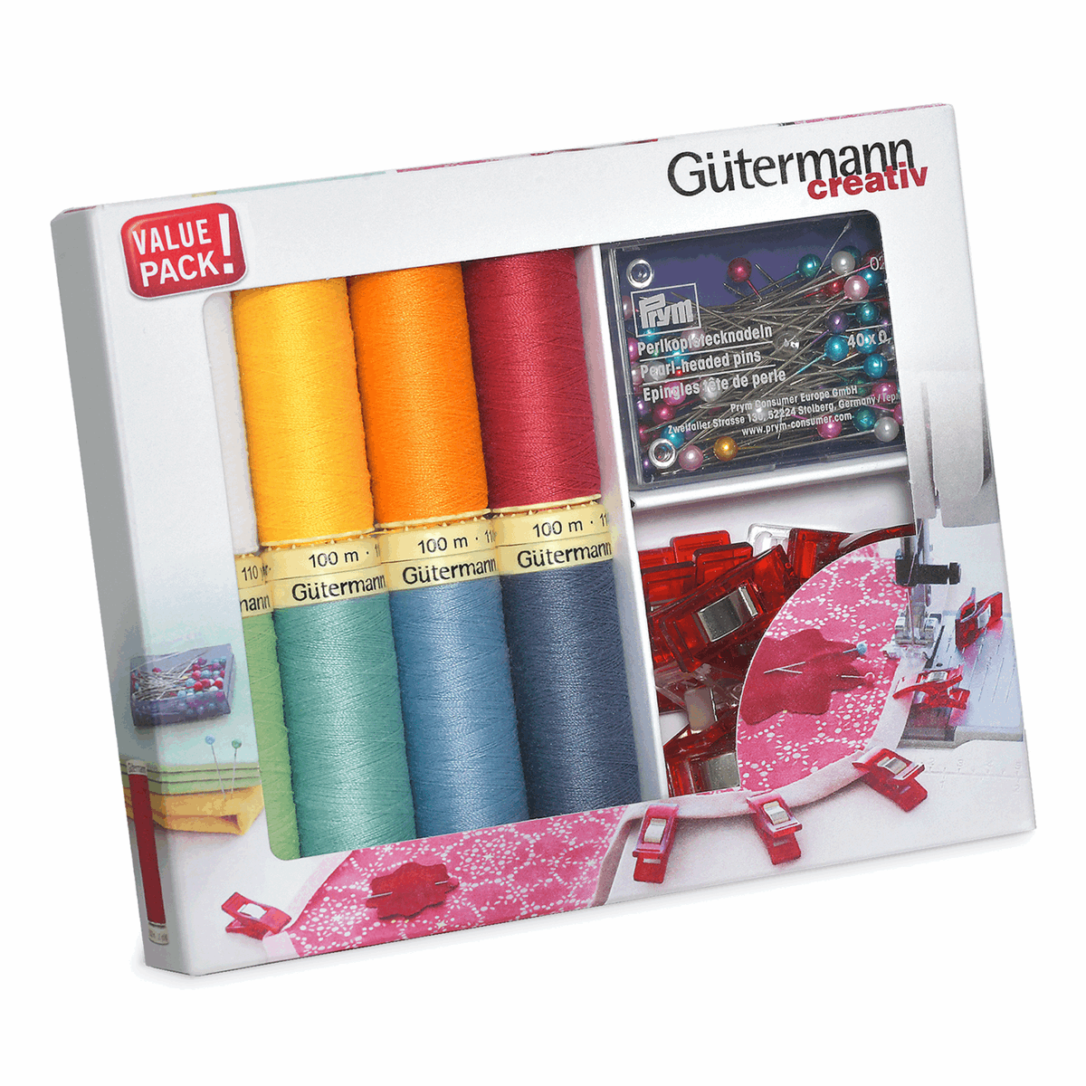 Picture of Thread Set: Sew-All: 8 x 100m: with Fabric Clips & Pins