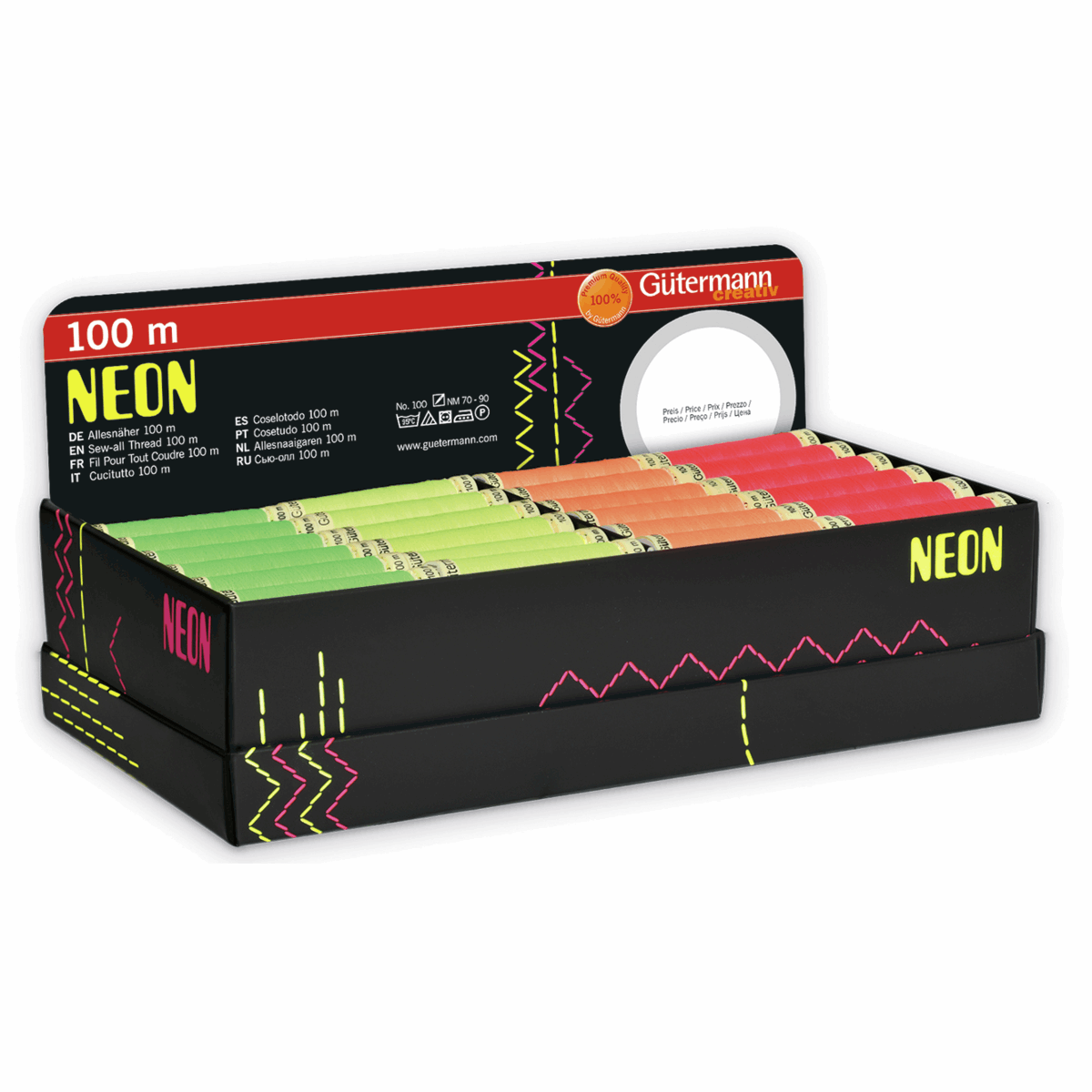 Picture of Storage and Display Box: Sew-All: 72 x 100m: Neons