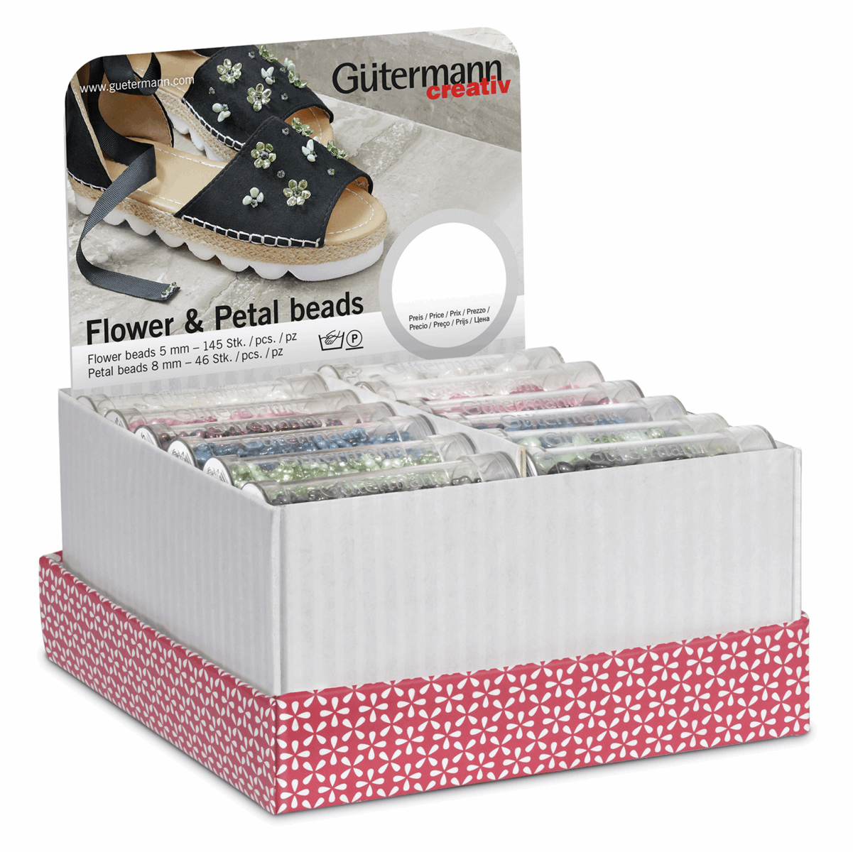 Picture of Storage & Display Box: Flower & Petal Beads: 36 Tubes: 145 and 46 Pieces: Assorted
