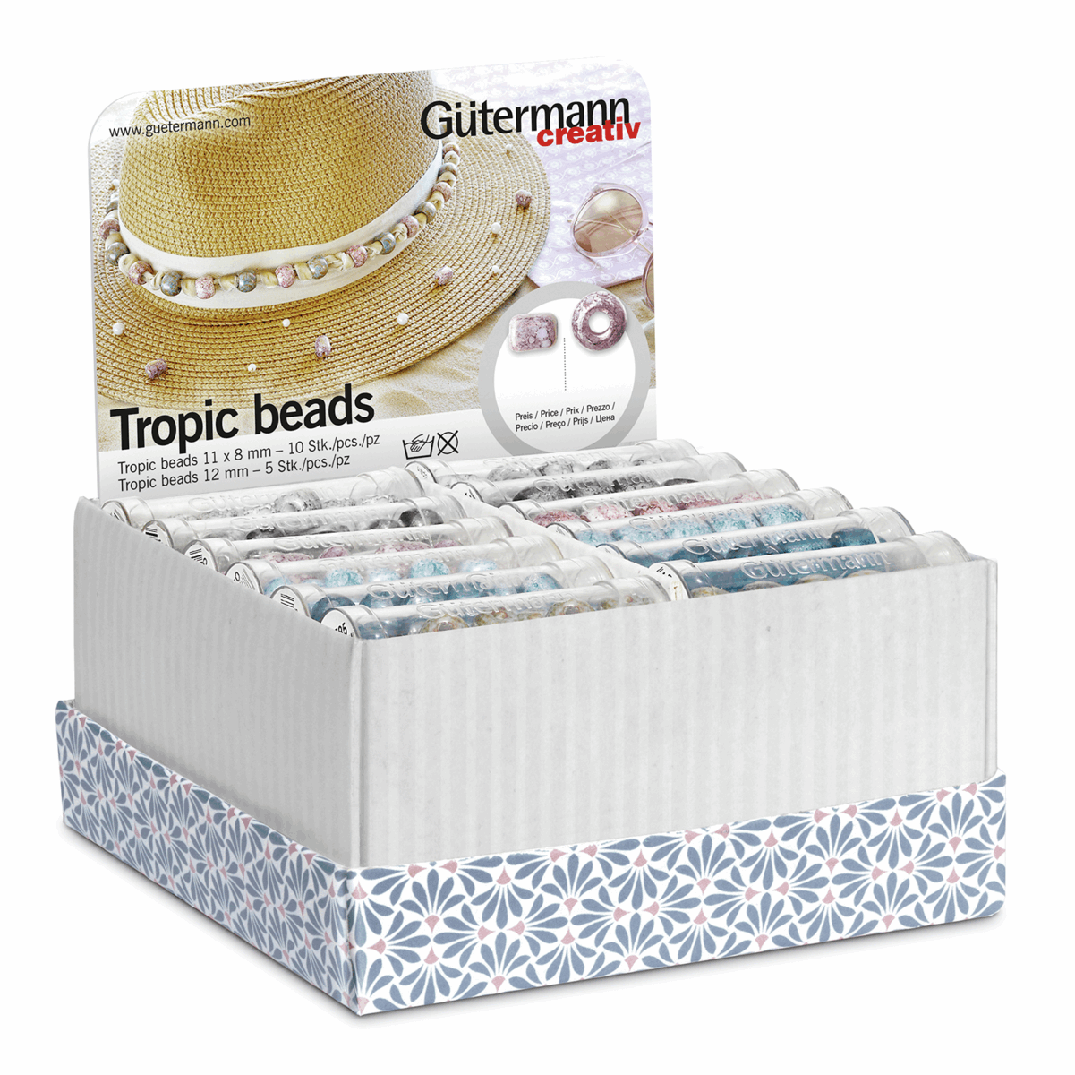 Picture of Storage and Display Box: Tropic Beads: 36 Tubes: Assorted