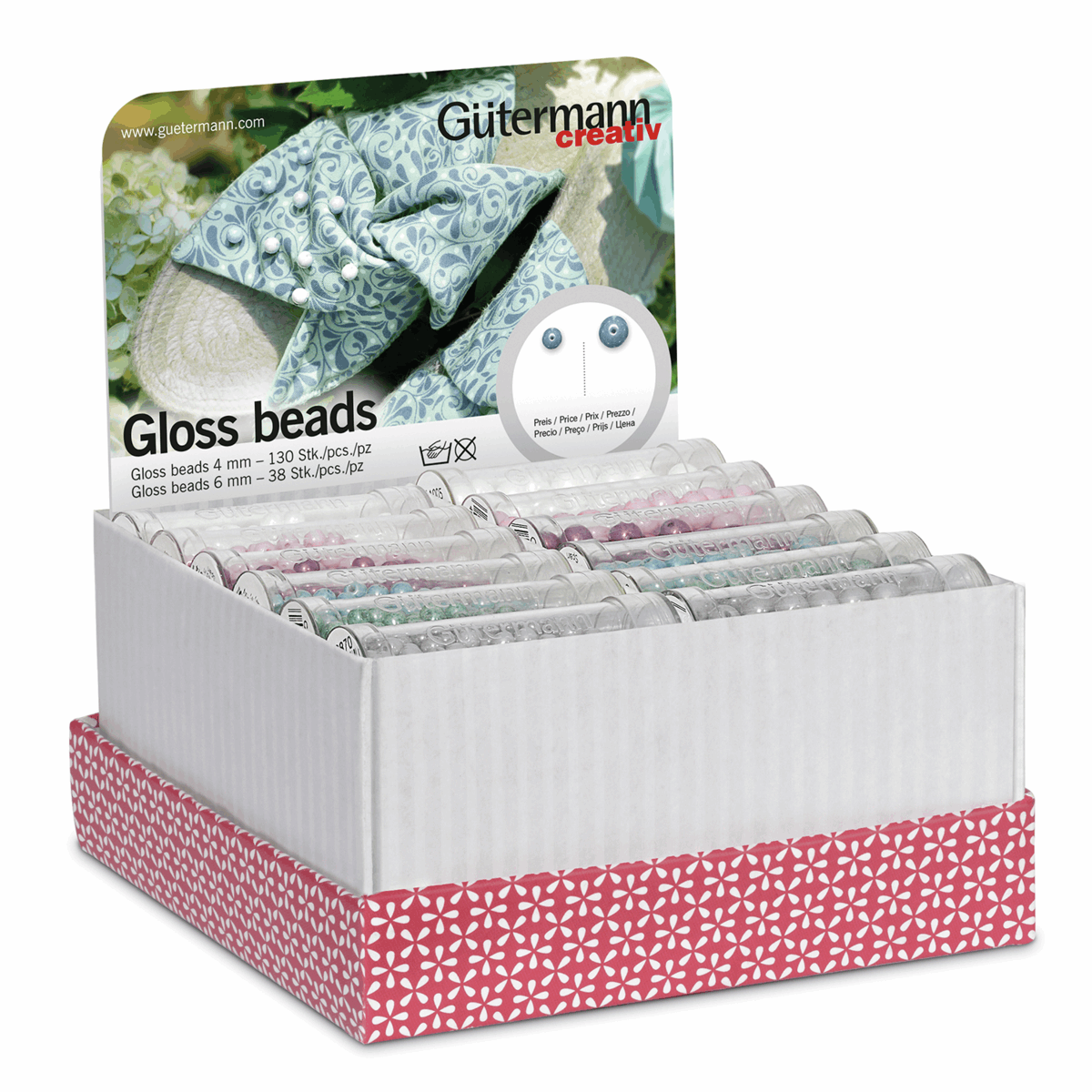 Picture of Storage and Display Box: Gloss Beads: 36 Tubes: Assorted
